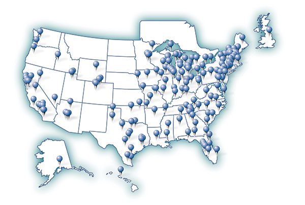 United Benefit Advisors Partner Firm Map